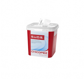 Салфетка вискозная 25x30 см 110 шт/рул S.U.D.S.MULTIPURPOSE LIGHT QUAT COMPATIBLE WIPE Chicopee белая (84620)